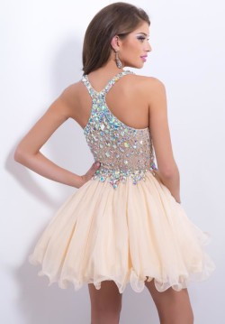 Crystals Beaded Champagne Short Blush 9857 Cocktail Dresses [new-dress-0483] – $198.00 : Cute New Arrival Style Homecoming Prom Dresses Online For 2015 Party