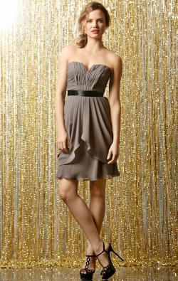 Grey Short Bridesmaid Dress