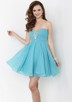 Lovely Nile Blue Sweetheart Beaded Pleated Bodice Homecoming Dress [Hannah S 27017 Nile Blue] – $148.00 : Hot Trends Homecoming Dresses,Prom Dress,Wedding Dress,Bridesmaid Dresses,Prom Shoes For Prom & Homecoming 2015 On Sale