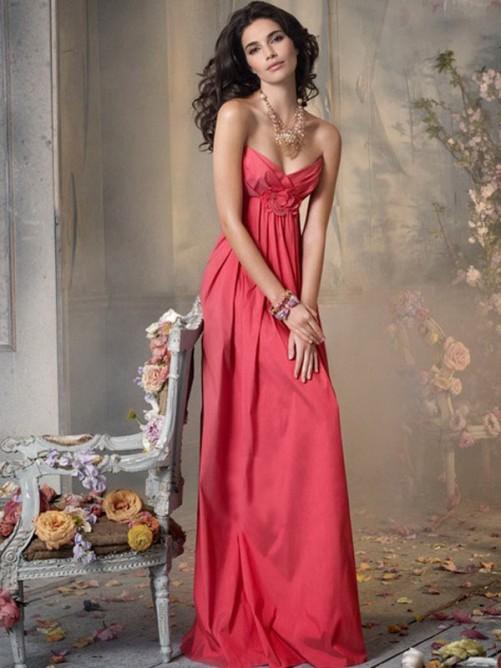 Princess Sleeveless Sweetheart Floor-Length Chiffon Bridesmaid Wear
