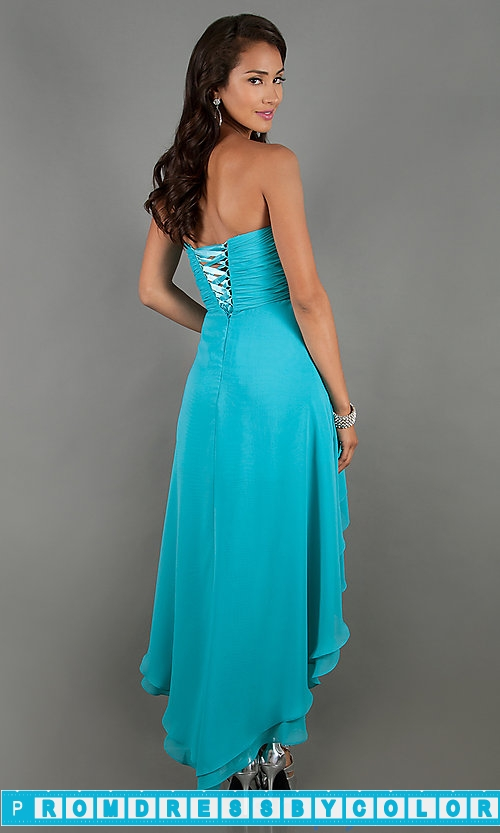 149 Red Prom Dresses – High Low Strapless Sweetheart Dress at www.promdressbycolor.com