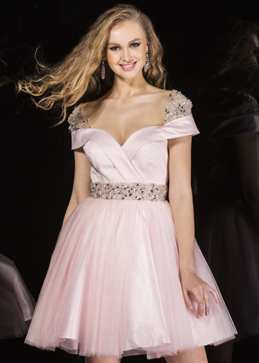 Sassy Light Pink Beaded Cap Sleeves Off The Shoulder Homecoming Dress [Angela and Alison 42038 Pink] – $192.00 : Hot Trends Homecoming Dresses,Prom Dress,Wedding Dress,Bridesmaid Dresses,Prom Shoes For Prom & Homecoming 2015 On Sale