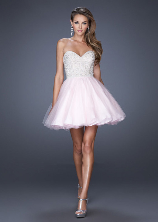 Short Pink Strapless Rhinestone Top A-line Homecoming Dress 2015 [La Femme 20033 Pink] – $185.00 : Short Homecoming Dresses For Party From www.homecoming2016.com