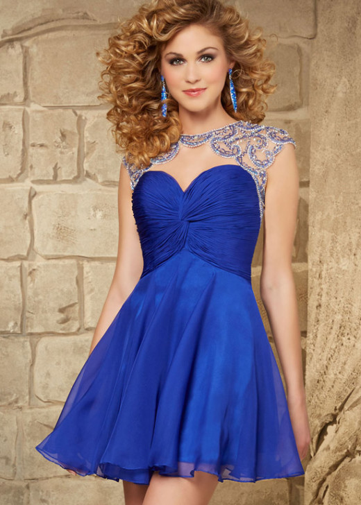 2015 Trendy Royal Beaded Ruched Bodice Open Back Homecoming Dress [Mori Lee 9354 Royal] – $208.00 : Cheap Fall 2015 Homecoming Prom Dresses For Girl Online,Under $200