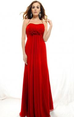 red long chiffon prom dress uk online