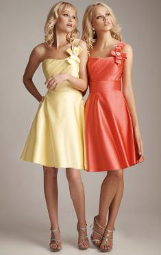 cheap gold&coral bridesmaid dress by queeniebridesmaid