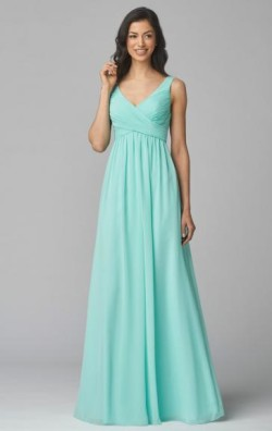 Romantica Mint Bridesmaid Dress BNNCK0021-Bridesmaid UK