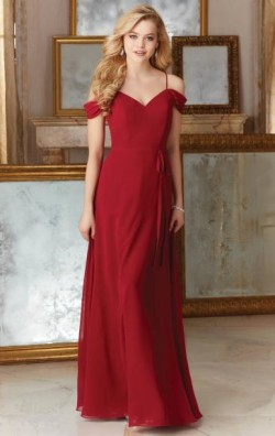 Beautiful Red Long Bridesmaid Dress BNNDE0008-Bridesmaid UK