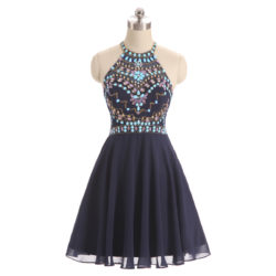 A-Line Scoop High Halter Neck Beading Tulle Short Mini Homecoming Dress [17012] – $166.00 : Unique Designer Women's Clothing & Dresses Shop Online Now For Affordable Styles – Ailsaclothing.com