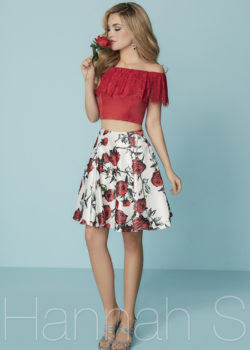 Beautiful Two Piece Off The Shoulder Red Multi Printed Cocktail Dress [Hannah 27190 Red Multi] – $172.00 : Prom Dresses 2017,Wedding Dresses & Gowns On Sale,Buy Homecoming Dresses From Ailsadresses.com