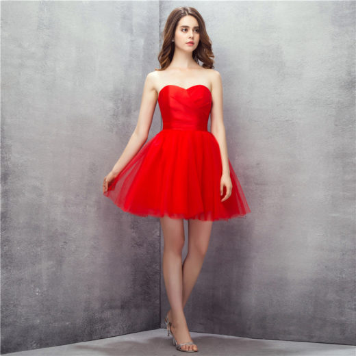 Cute Red Short Strapless Sweetheart Ruffles Tulle Homecoming Party Dress [17003] – $99.00 : Unique Designer Women's Clothing & Dresses Shop Online Now For Affordable Styles – Ailsaclothing.com