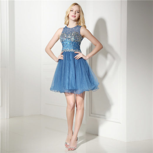 Cute Short Beaded Bodice Cutout Back Chiffon 8th Grade Homecoming Dress [17033] – $154.00 : Unique Designer Women's Clothing & Dresses Shop Online Now For Affordable Styles – Ailsaclothing.com