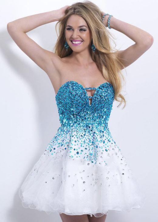 2015 Cutout Bust Crystals Beaded Strapless Blue White Cocktail Dress [Blush 9880 Blue White] – $182.00 : Cute Homecoming Dresses By The Hottest Trendy Designer,Ailsa Dresses,Cheap Bridesmaid Dresses, Plus Size Dress,Short Homecoming Dresses For Party From www.homecomings2016.com
