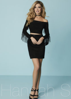 Fitted Two Piece Off The Shoulder Beaded Suede Fringe Black Cocktail Dress [Hannah S 27181 Black] – $178.00 : Prom Dresses 2017,Wedding Dresses & Gowns On Sale,Buy Homecoming Dresses From Ailsadresses.com