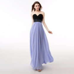 Graceful Sweetheart Strapless Sequins Beaded Lace Up Back Chiffon Prom Dress [17017] – $129.00 : Unique Designer Women's Clothing & Dresses Shop Online Now For Affordable Styles – Ailsaclothing.com