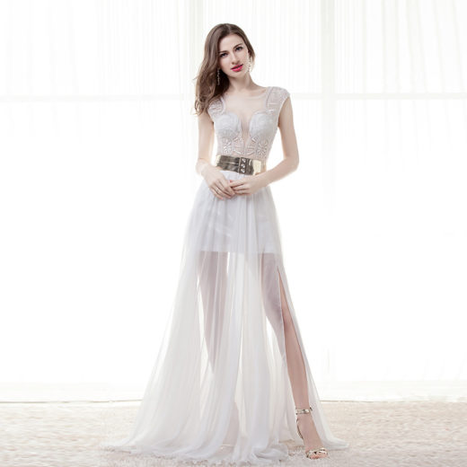 Sexy Asymmetrical Luxury Golden Sequined Sashes Side Split Evening Gowns [17016] – $152.00 : Unique Designer Women's Clothing & Dresses Shop Online Now For Affordable Styles – Ailsaclothing.com
