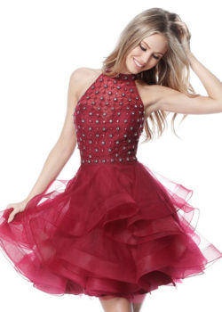 Beautiful Sweetheart Illusion Beaded Halter Beck Burgundy Cocktail Dress [Sherri Hill 51559 Burgundy] – $190.00 : Prom Dresses 2017,Wedding Dresses & Gowns On Sale,Buy Homecoming Dresses From Ailsadresses.com
