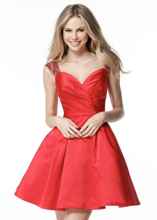 Chic Beaded Cap Sleeve Sweetheart Satin Red Short Homecoming Dress 2017 [Sherri Hill 51389 Red] – $188.00 : Prom Dresses 2017,Wedding Dresses & Gowns On Sale,Buy Homecoming Dresses From Ailsadresses.com