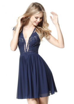 Chic Plunging V-neck Diamond-cutout Back Embroidered Navy Cocktail Dress [Sherri Hill 51311 Navy] – $178.00 : Prom Dresses 2017,Wedding Dresses & Gowns On Sale,Buy Homecoming Dresses From Ailsadresses.com