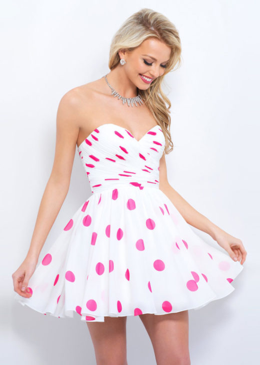 Chic Short Strapless Polka Dot Off White Pink Print Homecoming Dress [Blush 11363 Off White Pink Print] – $145.00 : Prom Dresses 2017,Wedding Dresses & Gowns On Sale,Buy Homecoming Dresses From Ailsadresses.com