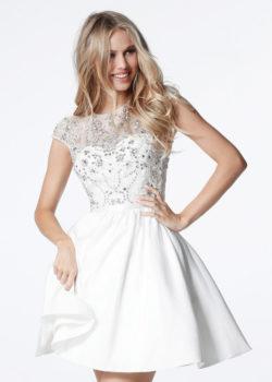 Cute Beaded Bodice Cap Sleeves Cutout Back Ivory Homecoming Dress [Sherri Hill 51515 Ivory] – $206.00 : Prom Dresses 2017,Wedding Dresses & Gowns On Sale,Buy Homecoming Dresses From Ailsadresses.com