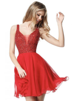 Flowy Deep V Neck Cut Open Back Red Beaded Bodice Homecoming Dress 2017 [Sherri Hill 51294 Red] – $188.00 : Prom Dresses 2017,Wedding Dresses & Gowns On Sale,Buy Homecoming Dresses From Ailsadresses.com