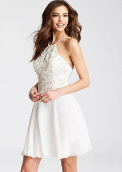 Flowy White Chiffon Embellished Bodice Halter Top Short Homecoming Dress [JVN53176 White] – $188.00 : Prom Dresses 2017,Wedding Dresses & Gowns On Sale,Buy Homecoming Dresses From Ailsadresses.com