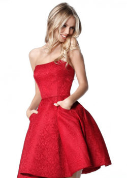 Gorgeous Pleated A-line Strapless Red Semi Open Back Homecoming Dress [Sherri Hill 51518 Red] – $190.00 : Prom Dresses 2017,Wedding Dresses & Gowns On Sale,Buy Homecoming Dresses From Ailsadresses.com