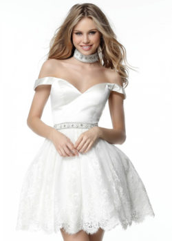 2017 Lovely Lace Princess Off The Shoulder Ivory Flared Homecoming Dress [Sherri Hill 51385 Ivory] – $192.00 : Prom Dresses 2017,Wedding Dresses & Gowns On Sale,Buy Homecoming Dresses From Ailsadresses.com