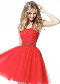 Princess A-line Strapless Beaded Tulle Red Senior Homecoming Dress [Sherri Hill 51327 Red] – $186.00 : Prom Dresses 2017,Wedding Dresses & Gowns On Sale,Buy Homecoming Dresses From Ailsadresses.com