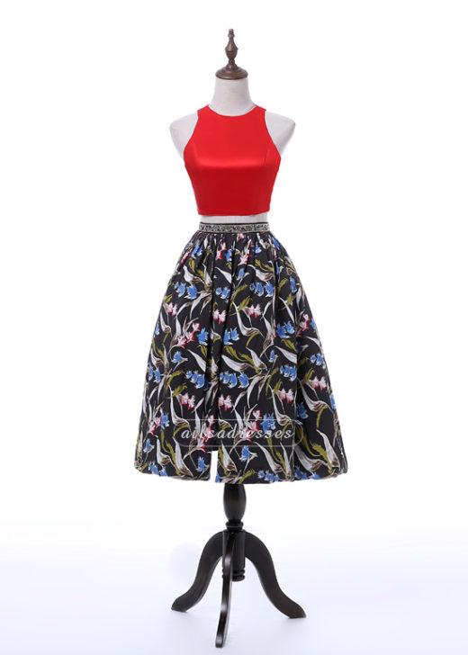 Ailsa Two Pieces Red Halter Crisscross Back Tea-Length Homecoming Dress 2017 [A-013] – $129.00 : Prom Dresses 2017,Wedding Dresses & Gowns On Sale,Buy Homecoming Dresses From Ailsadresses.com