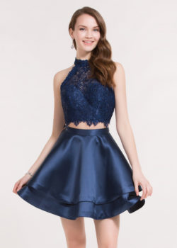 Gorgeous Lace Halter High Neck Two Piece Navy Blue Homecoming Dress 2017 [Alyce 3735 Navy Blue] – $138.00 : Prom Dresses 2017,Wedding Dresses & Gowns On Sale,Buy Homecoming Dresses From Ailsadresses.com