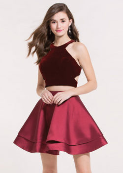 High Neck Two Piece Velvet Crop Top Layered Wine Red Homecoming Dress [Alyce 2648 Wine Red] – $158.00 : Prom Dresses 2017,Wedding Dresses & Gowns On Sale,Buy Homecoming Dresses From Ailsadresses.com