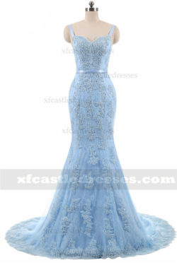 Beaded Lace Mermaid Prom Dresses with Straps MXN513