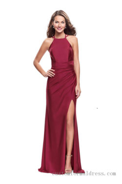 Long Split Prom Dresses Halter Neck CTLF26141